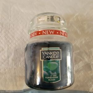 Yankee Candle Turquoise Glass!